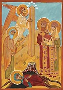 Commemoration of the apparition of the Pillar with the Robe of the Lord under it at Mtskheta in Georgia